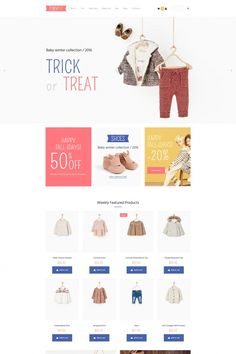 Baby Store Responsive MotoCMS Ecommerce Template #65059