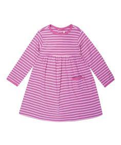 Another great find on #zulily! Pink Stripe A-Line Dress - Infant, Toddler & Girls by JoJo Maman Bébé #zulilyfinds
