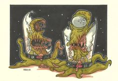 ZOMBIES FROM RIGEL VII by *leagueof1 on deviantART (Zombie Kodos and Zombie Kang!)