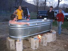 My Hot Tub on Pinterest | Hot Tubs, Rubbermaid Stock Tank and Tubs