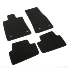 ATS Coupe Floor Mats, Front and Rear Premium Carpet, Jet Black:These Front and Rear Premium Carpet Floor Mats provide a custom fit for your ATS with a high quality carpeted upper surface to match the interior. Features the ATS Logo. Carpet Replacement, Cadillac Ats, Quality Carpets, Carpet Flooring, Floor Mats, Jet, Vehicle, Surface, Logo