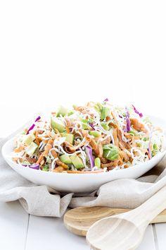 Thai Crunch Salad with Spicy Lime Cilantro Vinaigrette