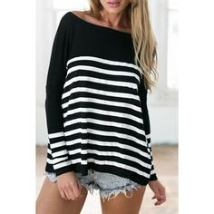 e6ae87a8d6b  9.31 Stylish Boat Neck Long Sleeve Striped Women s T-Shirt Stripes Design
