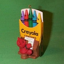1991 Crayola - Organ Hallmark Christmas Ornament, Mint in Box - In Stock! - The Ornament Shop. Hallmark Christmas Ornaments, Christmas Presents, Christmas Decorations, Xmas, Holiday Decor, Color Crayons, Cray Cray, Markers, Shop