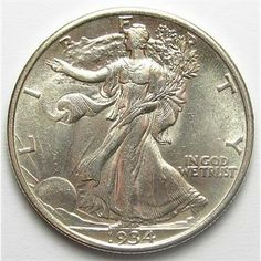 Better Date AU+ 1934 Silver Walking Liberty Half Dollar  http://www.propertyroom.com/l/l/9583282