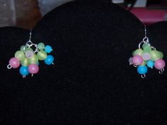 Pastel Cluster Earrings by OurBeadedCharms on Etsy, $9.50