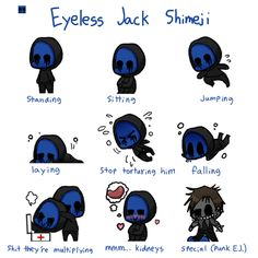 Read eyeless jack from the story xả ảnh creepypasta by (Yuki Aisaiki) with reads. Eyeless Jack, Jeff The Killer, Creepypasta Slenderman, Creepy Pasta Family, Ben Drowned, Laughing Jack, Memes, Scary Stories, Look Cool