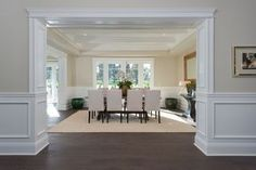 5 ft wainscoting bathroom ideas | ... Area Rug, Crown molding, Wainscoting, Hardwood floors, Exposed beam