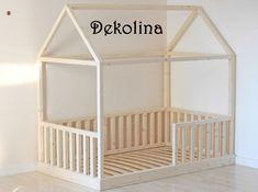 Hausbett selbst bauen kinderzimmer pinterest chambre for Bett 70x140 ikea