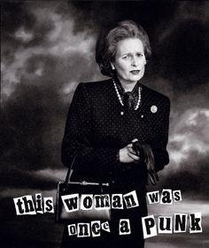 Westwood as Margaret Thatcher