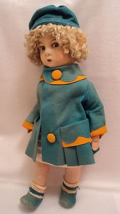 "Original 21"" Massina VAT Lenci Type Felt Cloth Doll Made in Italy 1920'S | eBay"