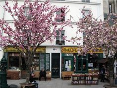 to Shakespeare & Co bookshop in Paris in the spring