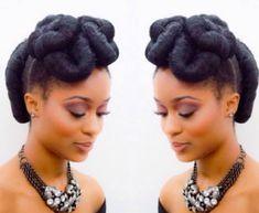 Holiday Hairstyles, Twist Hairstyles, Pretty Hairstyles, Wedding Hairstyles, Black Hairstyles, Natural Hair Updo, Natural Hair Styles, Black Hair Inspiration, Flat Twist Updo