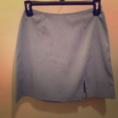 Express blue skirt Express light blue mini skirt. Small slit on the side, soft velvety material. Zip up. Size Small Express Skirts Mini