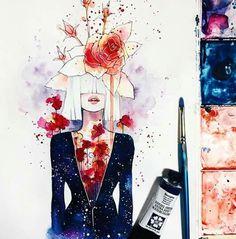 Hieu Nguyen, better known by his alias Kelogsloops, is an Australian watercolor artist. Kelogsloops also makes digital drawings. Art And Illustration, Watercolor Illustration, Art Inspo, Kunst Inspo, Watercolor Art Paintings, Watercolor Drawing, Watercolours, Art Sketches, Art Drawings