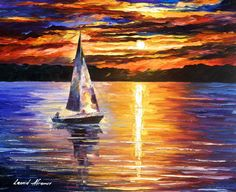 Leonid Afremov (@Afremov_Artist) | Twitter #boats #water #paintings