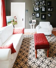 Be Bold With Red Seating