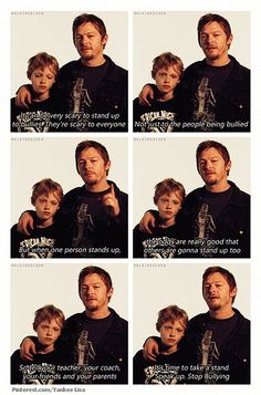 Stop bullying.. Norman Reedus and his son Mingus