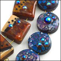 how to make polymer clay beads look like glass beads