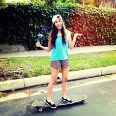 outfit ideas for just walking around, hanging out, or just skateboarding around the neighborhood lol, by Lauren Cimorelli