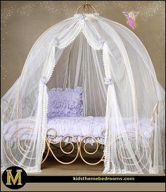 Decorating theme bedrooms - Maries Manor: May 2010 Princess Theme Bedroom, Disney Princess Room, Princess Bedrooms, Princess Nursery, Cinderella Carriage Bed, Cinderella Room, Cinderella Coach, Princess Carriage Bed, Fairy Bedroom