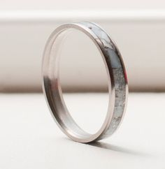 Mother of Pearl Wedding Band mens wedding band by StagHeadDesigns