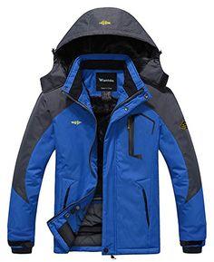 Wantdo Chaqueta de Montaña Esquí Impermeable para Hombres Chaqueta Nieve 5135aad988bc