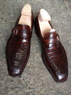 Alligator Slip on loafers