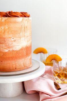 Round Cake Pans, Round Cakes, Bourbon Cake, Brown Sugar Cakes, Cake Recipes, Dessert Recipes, Peach Cake, Elegant Desserts, Classic Cake