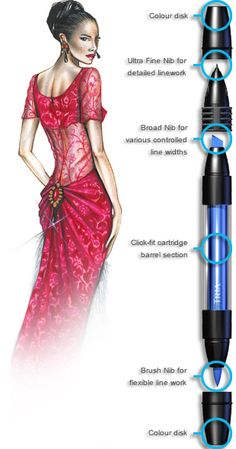 Tria Fashion Design Markers