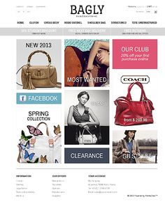 Great Handbag and Manbag Store Ecommerce PrestaShop Themes - Bagly News Web Design, Web Design Trends, Fashion Website Design, Craft Websites, Fashion Templates, Chanel Spring, User Interface Design, Web Design Inspiration, Wordpress Theme