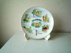 Vintage San Antonio Texas Collectors Plate SALE #mothersDay #sanAntonio #collectorsPlate #collectibles #souvenirPlate