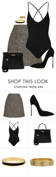 """""""."""" by owl00 ❤ liked on Polyvore featuring Yves Saint Laurent, Casadei, Topshop, Hermès, Halcyon Days and Cartier"""