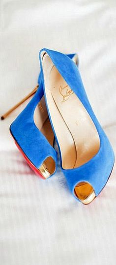 Something Blue..like..Christian Louboutin   LBV ♥✤