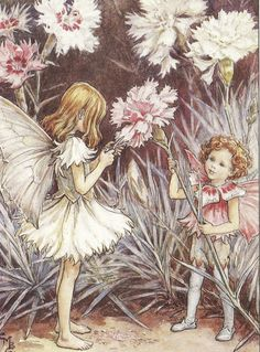 Cicely Mary Barker Illustration of the Pink Fairies for Flower Fairies of the Garden, Reproduction of Flower Fairy illustrations, © The Estate of Cicely Mary Barker, 2009 Cicely Mary Barker, Elfen Fantasy, Fantasy Art, Beatrix Potter, Vintage Fairies, Beautiful Fairies, Flower Fairies, Fantasy Illustration, Fairy Art