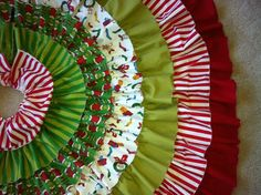 "Grinch Christmas Tree Skirt by HappyCrabBoutique on Etsy..instead of buying this use this for inspiration for my own ""grinch"" tree skirt.."