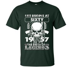 60th Birthday Gifts 1957 The Birth Of Legends T-Shirt cool shirt