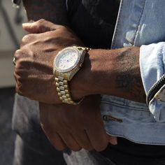 14K Gold Royal CZ Watch   Check our watches collection @ www.kingice.com