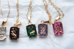 ASTROLOGICAL PENDANTS CRYSTAL Czech Vintage by ifoundgallery, $12.00