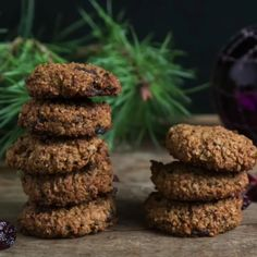 Healthy cookies in just 10 minutes! - Mrs Flury - eat and live healthy - Healthy oatmeal cookies vegan Healthy baking, healthy cookies, simple, quick, easy recipe - Healthy Vegan Cookies, Cake Vegan, Healthy Oatmeal Cookies, Vegan Sweets, Healthy Baking, Healthy Snacks, Delicious Cookies, Keto Oatmeal, Healthy Smoothies