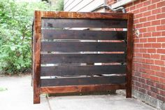 Learn how to make this easy, customizable outdoor screen to hide an air conditioning unit. These plans can be easily modified to boost curb appeal by hiding garbage cans, electrical boxes, and other unsightly outdoor eyesores. Always be sure to respect clearance distances for your a/c unit.
