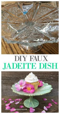 DIY Faux Jadeite Dish from a Thrift Store Find - Upcycled Crafts Thrift Store Shopping, Thrift Store Crafts, Thrift Store Finds, Crafts To Sell, Diy And Crafts, Thrift Stores, Thrift Store Decorating, Thrift Store Diy Clothes, Thrift Haul