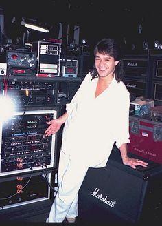 Eddie Van Halen backstage rig on 5150 tour, 1986