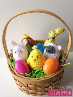 Learn how to make the most adorable Crochet Easter Egg Covers! Free Crochet pattern shows you how to make Chick, Bunny, & Sheep crocheted easter egg covers.