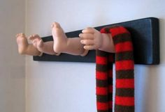Recycle old dolls!! This is really kind of creepy! My mom would do this. :)