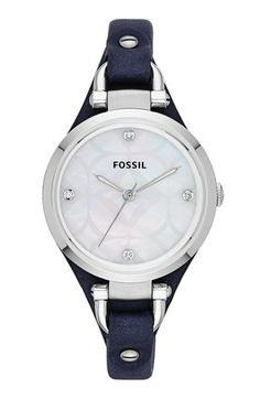 Fossil 'Georgia' Leather Strap Watch, 32mm available at #Nordstrom