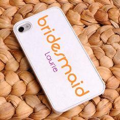 Orange Crush Bridesmaid iPhone Case