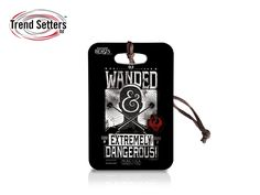 """Take a piece of J.K. Rowling's Wizarding World wherever you go with this Fantastic Beasts and Where to Find Them luggage tag. This collectible uses officially licensed artwork featuring the """"Wanded and Dangerous"""" wording, and has the flexibility to be used as a luggage tag, keychain, or zipper pull, depending on how you choose to show the world that you're a No-Maj, just like the rest of us."""