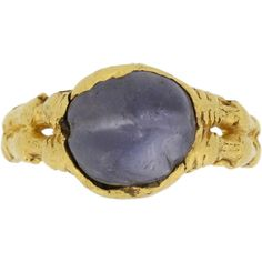 Preowned Medieval Zoomorphic Sapphire Gold Ring (1.706.400 RUB) ❤ liked on Polyvore featuring jewelry, rings, blue, antique gold jewelry, antique yellow gold rings, antique gold jewellery, gold sapphire ring and cabochon sapphire ring