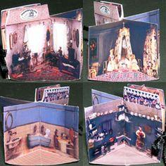 Paper Minis: Tutorial - Victorian Dollhouse book kit - many other mini books, toys, etc kits available